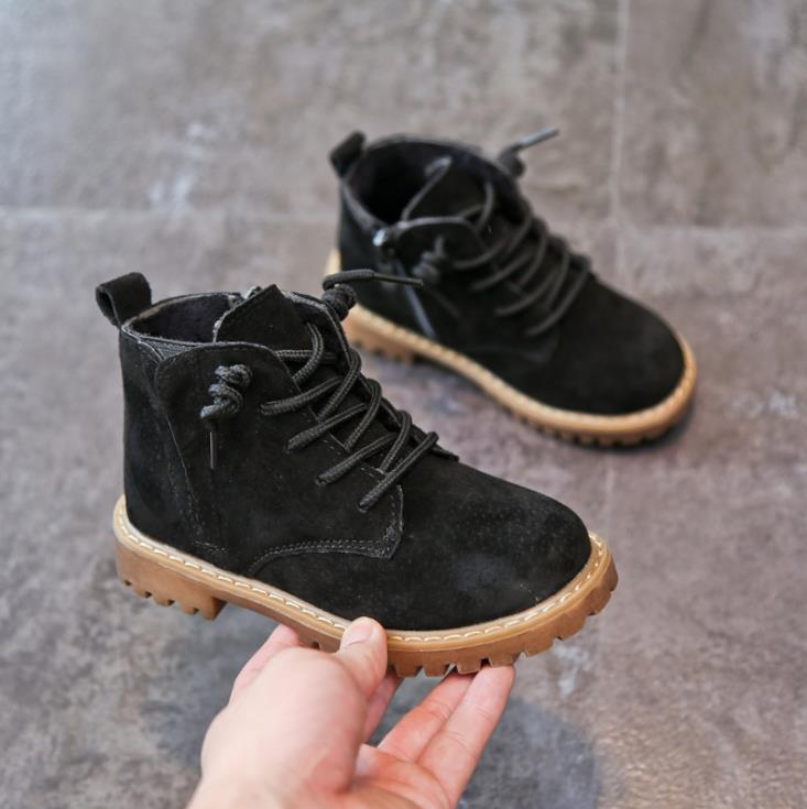 90a79f47 Compre Calzado Infantil Otoño E Invierno Botas De Nieve De Cuero Niñas  Martin Botas Niños Algodón Zapatos Algodón Zapatos Botas De Cuero 21 37cm  01 A $24.52 ...