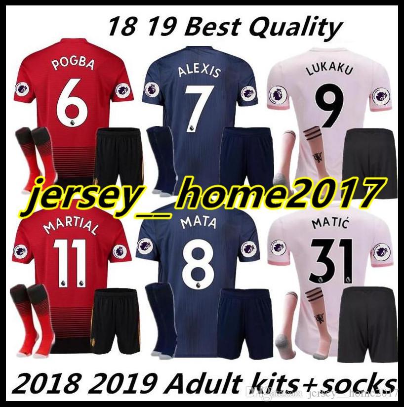 bb3aa3700 2018 2019 MAN ALEXIS 7 Adult Kit Soccer JerseyS SHORTS + SOCKS 18 19 ...
