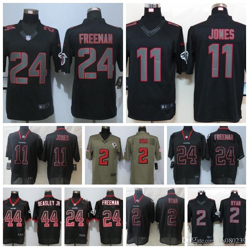 2018 Men Atlanta Falcons Black Jersey  11 Julio Jones 2 Matt Ryan 24  Devonta Freeman 18 Ridley 21 Deion Sanders Football Jerseys From Hs080237 17829e27e