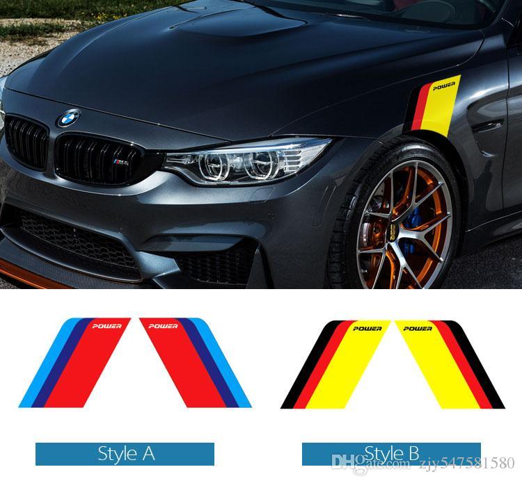 Car Side Fender Autocollants et Stickers voiture corps décoratif pour bmw e90 f60 f10 f07 f34 x1 x3 x4 x5 e70 x6 M2 M3 M5 style de voiture