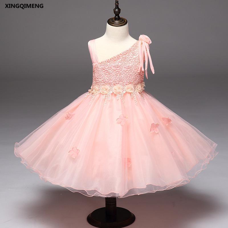 e437aecfa In Stock Pink Flower Girl Dress For Weddings 2 10Y Cheap Simple ...