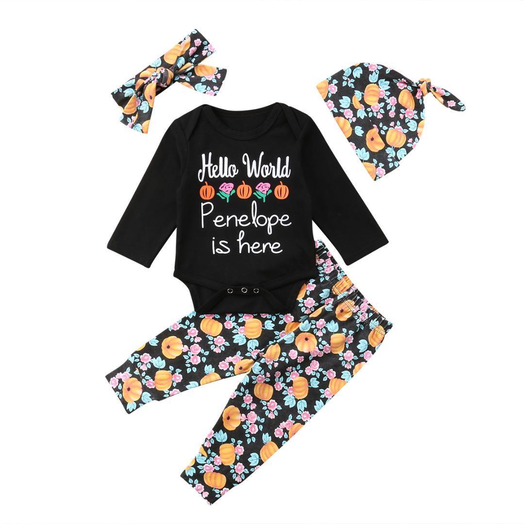 257a140201af 2018 Emmababy Cute Halloween Newborn Baby Boys Girls Pumpkin Romper ...