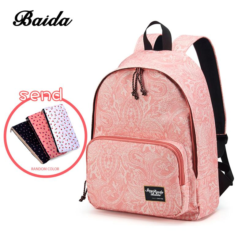95647204b5 Fashion Printing Backpacks Women Canvas School Backpack Bags For Teenage  Girls Laptop Back Pack Bag Travel Bagpack Pink Rucksack Y1890302 Camo  Backpack ...