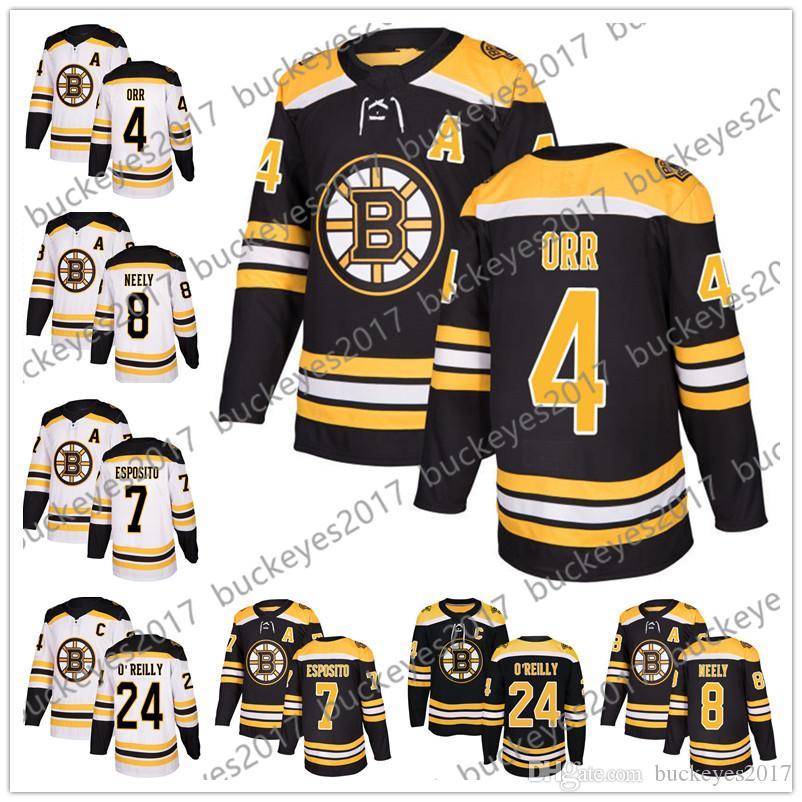 2019 Boston Bruins 2018 New Brand  4 Bobby Orr 7 Phil Esposito 8 Neely 24  Terry O Reilly Black White Retired Player Hockey Jerseys S 60 From  Buckeyes2017 7bd82b18d