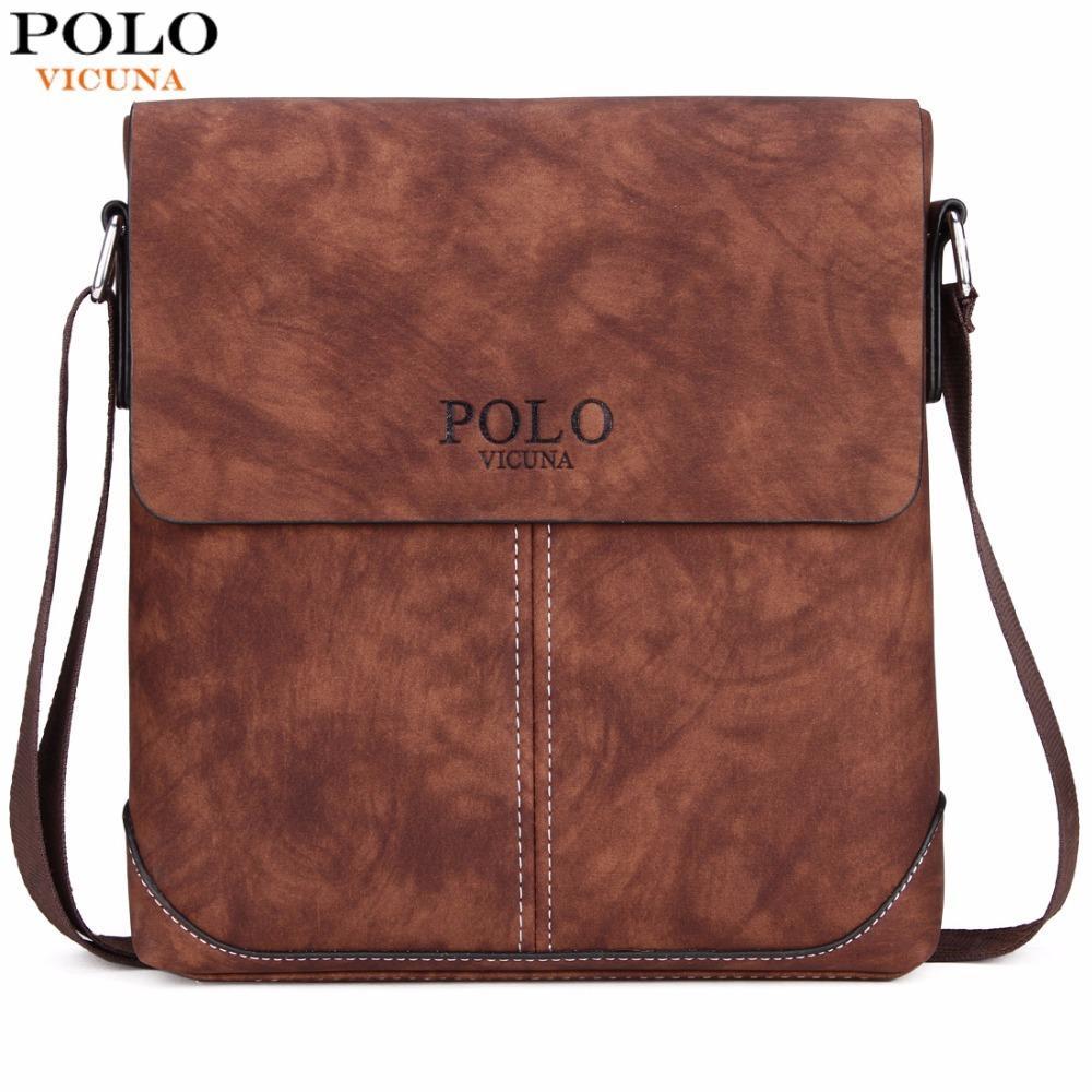 VICUNA POLO Vintage Panelled Men Messenger Bag Personality Contrast Color Crossbody  Shoulder Bag For Man Business Man Handbag Overnight Bags Black Bags From ... 4ea4d2c4bb6a6