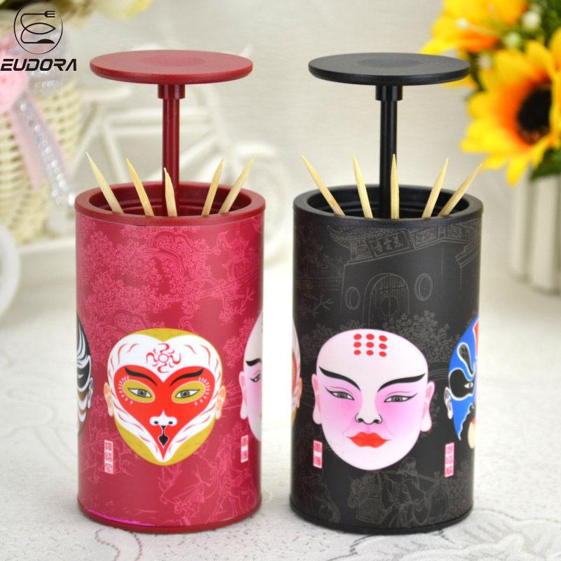 Eudora Face Toothpick Holder Creative Plastic Toothpick Box