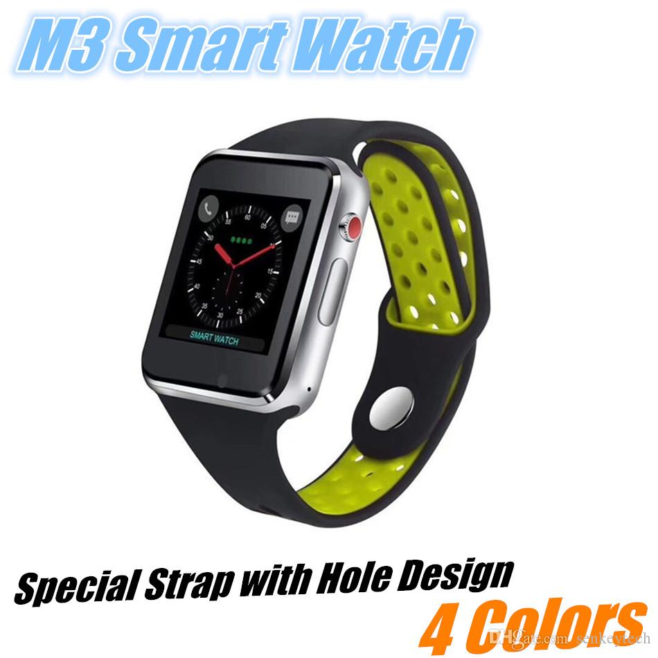Hot-Sale M3 Smart Watch Clock With Facebook Whatsapp Twitter Sync Notifier  Support SIM TF Card For Android Phone iPhone VS gt08 A1 DZ09