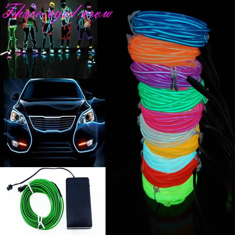 10m El Wire Tube Rope 4aaa Battery Powered Flexible Led Strip Led ...