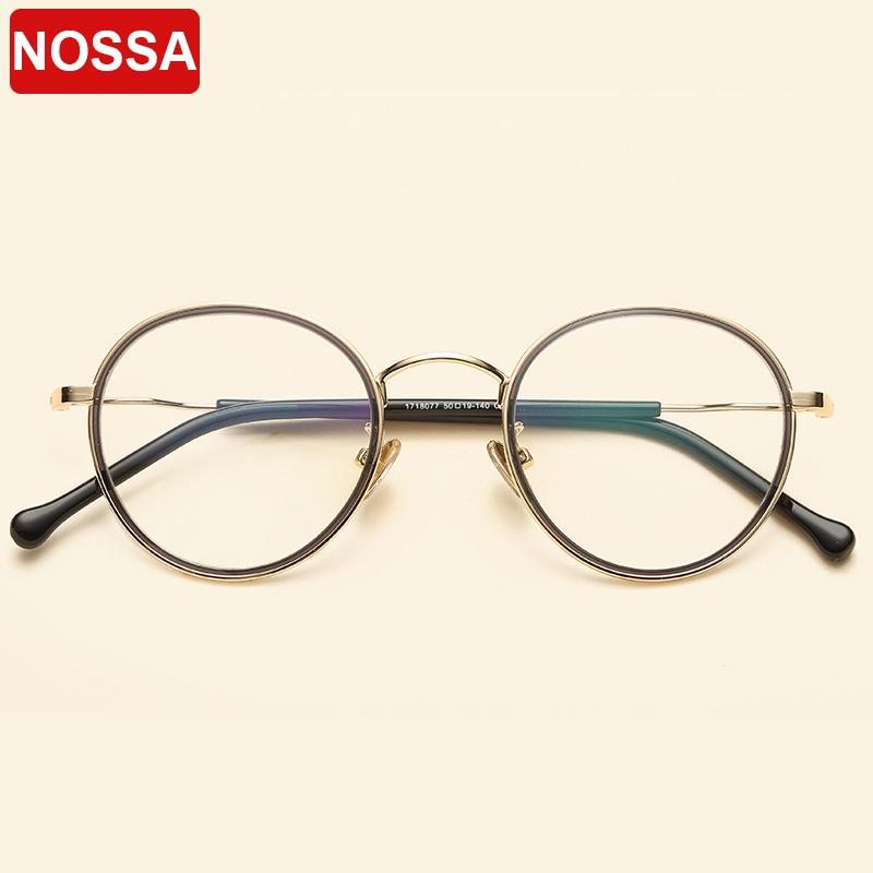 1ad78b10ca0 2019 2018 New Card Circle Metal Round Glasses Frame Art Small Fresh Thin  Edge Small Frame Glasses Men And Women Retro Flat Mirror From Shuidianba