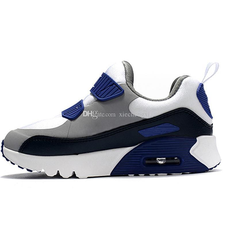 dcb8fe5ac Compre Nike Air Max 90 Zapatillas Deportivas Para Niños Presto 90 II  Zapatillas De Correr Para Niños Negro Blanco Bebé Zapatilla Infantil 90  Zapatos ...