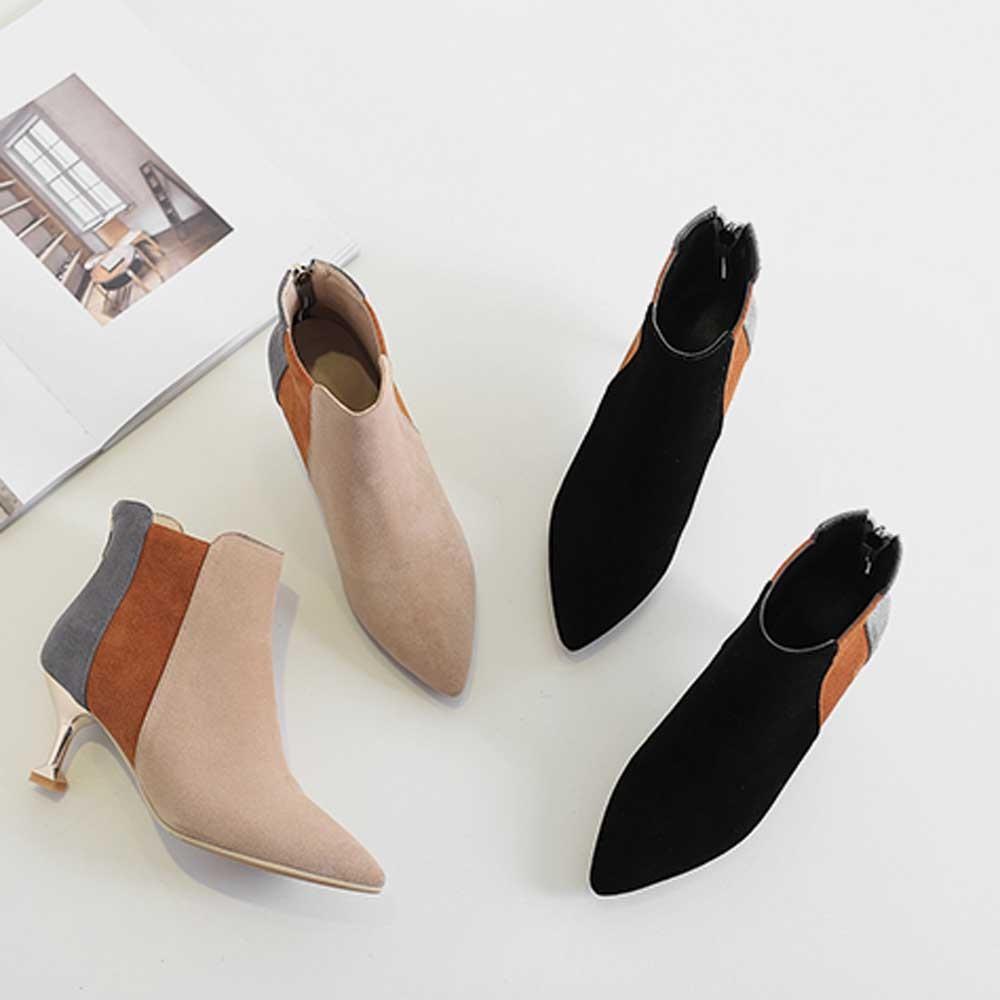 6e852829 Compre Moda Zapatos De Mujer Estilete Punta Estrecha Friega Colores  Mezclados Botines Mujer Invierno Señora Nieve Botas Moda Clásico Hotsell A  $19.52 Del ...