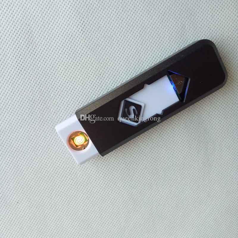 재충전 가능한 전자 담배 USB 불꽃이없는 시가 라이터는 또한 아크 토치 가스 라이터 흡연 도구 액세서리를 제공합니다