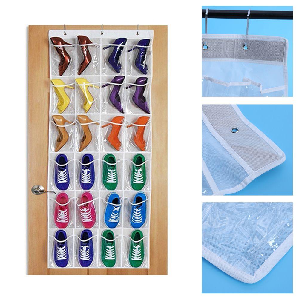 2018 Hanging Storage Bags 24 Pockets Over Door Wall Hanger Shoes Bag