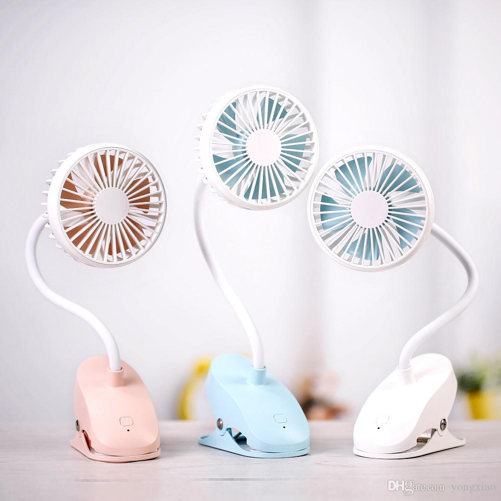 Portable Clip Fan Mini Air Cooler with Rechargeable Battery Handheld  Ventilador Charging Fans USB Fan for Home Desk Domitry