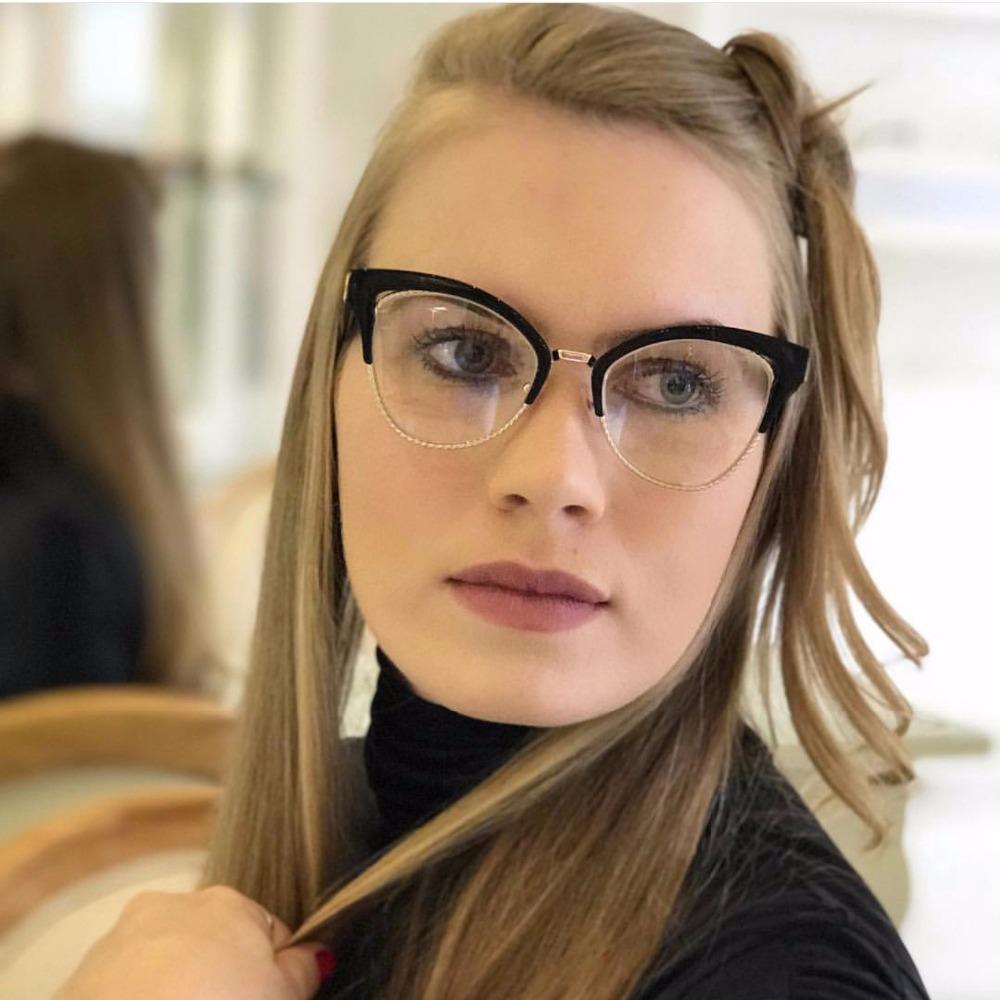 26278ba88f 2019 2018 Vintage Cat Glasses Frame Women Brand Retro Rivet Clear Lens  Glasses Ladies Eyeglasses Frame Unisex Eyewear UV400 FML From Linyicity