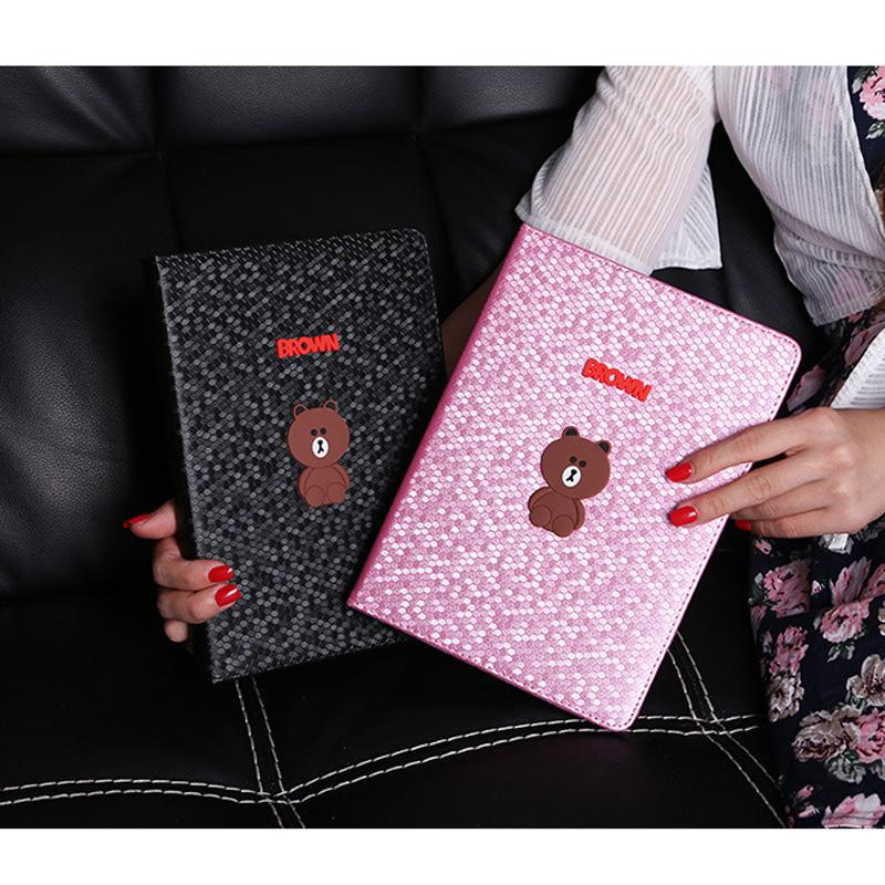 Tablet Case for ipad air 2 air 1 Smart PU Leather Sleeve for ipad 5 6 mini 1 2 3 Cute Bear Folio Stand Cover Case Auto Sleep
