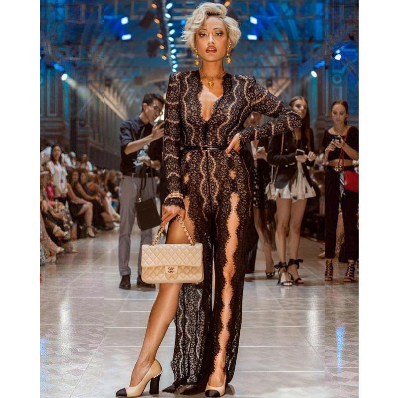 179d093dc8ee Acquista Le Nuove Donne Lunghe Sexy Del Merletto Del Vestito Nero Di Modo  Di Arrivo Arrivano Il Vestito Da Partito Sexy Del Cocktail Del Cocktail Di  Disegno ...