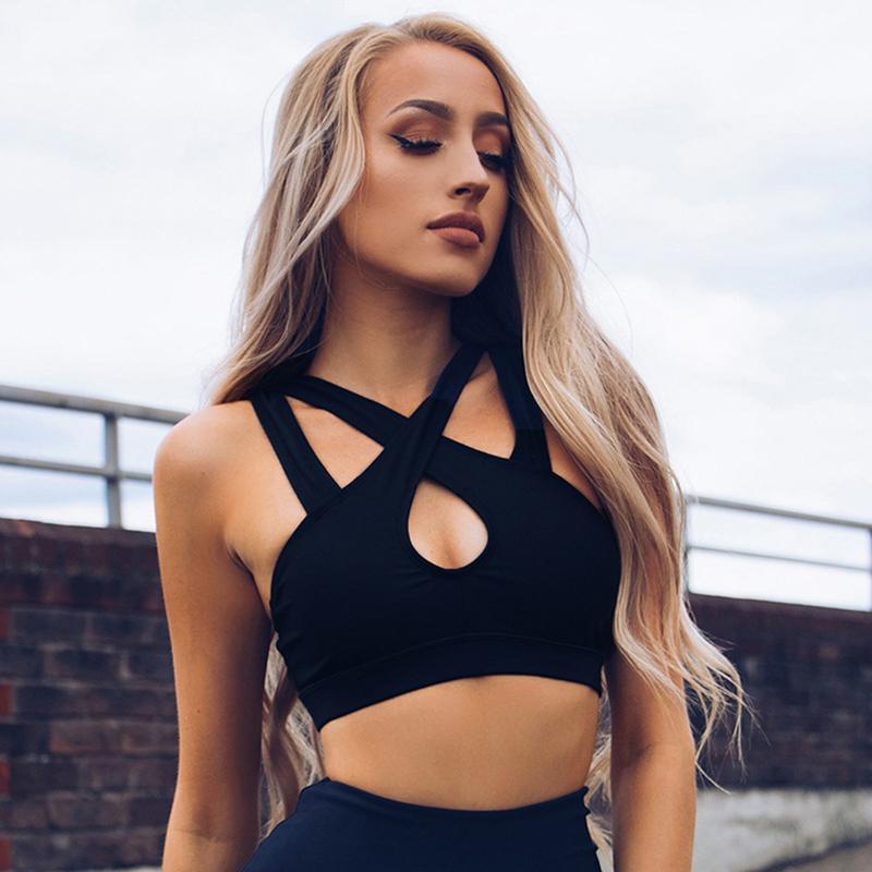 1e58cdaff0 2018 Vests New Women Camis Vest Tops Tees Slim Black Solid Skinny ...
