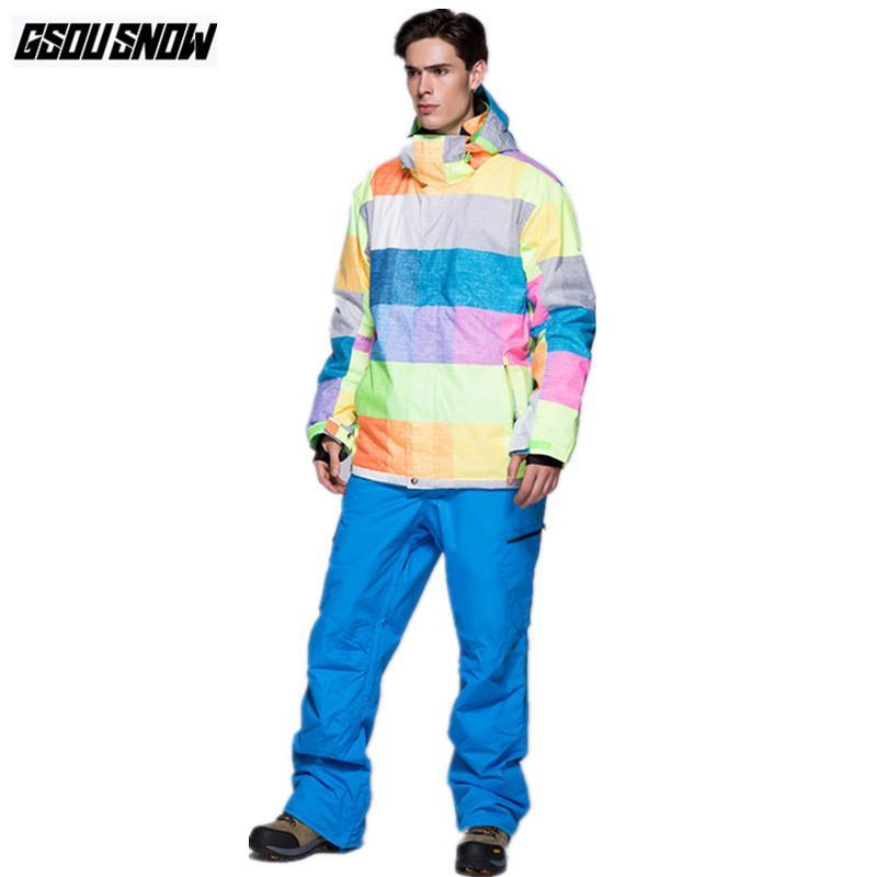 1d74894c92 2019 GSOU SNOW Brand Ski Suit Men Ski Jackets Snowboard Pants Waterproof  Skiing Set Snowboarding Suit Winter Cheap Sport Snow Clothes From  Dragonfruit