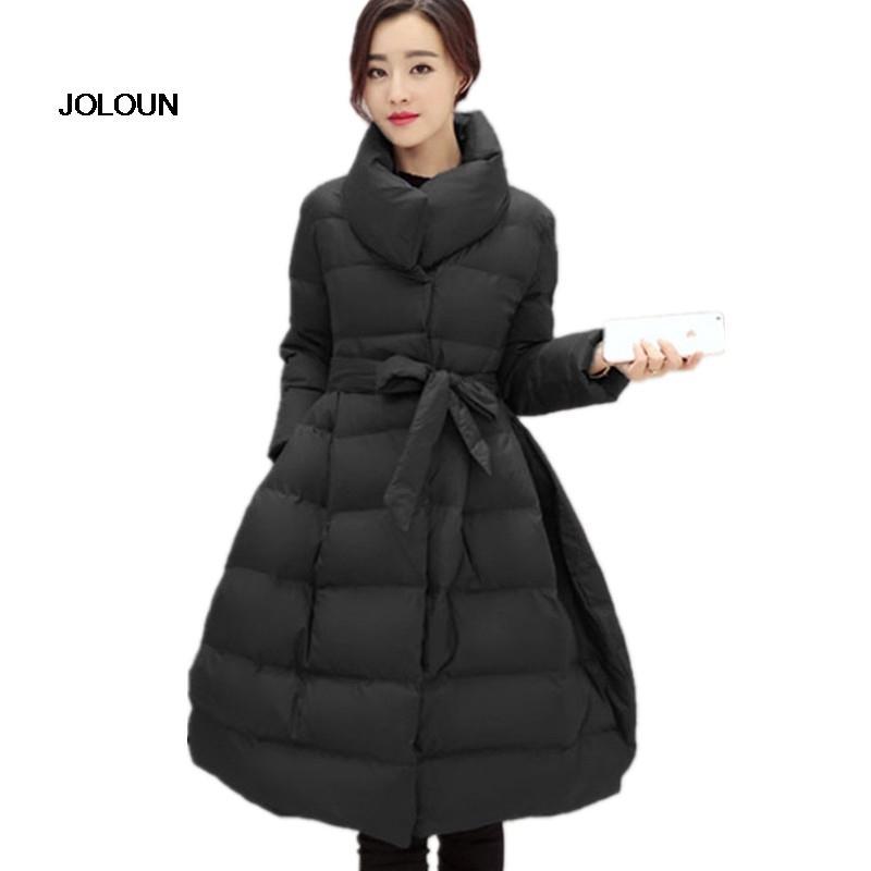 Acquista Nuovo Cappotto 2018 Donna Nero Invernali Giacche 66rfRqwx