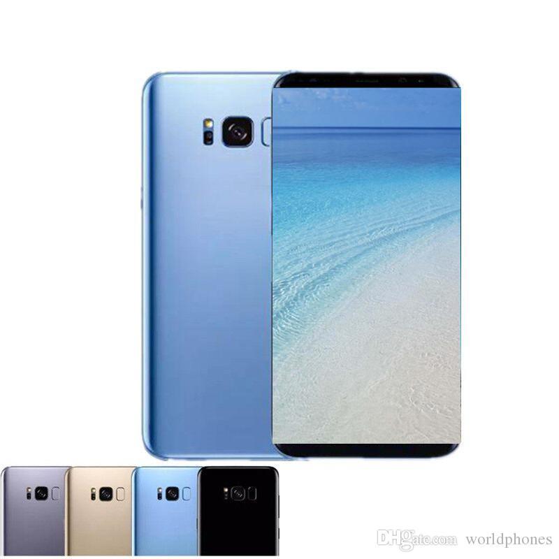 e7581ebe1326 Goophone S8 plus S8 + teléfono desbloqueado quad 1G ram 4G rom 5.8inch  Mostrar 128GB / 64GB falso 4g lte Android Smartphone GPS WIFI