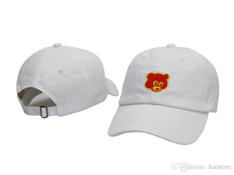 3114d9f4 White Kanye West Graduation College Dropout Bear Dad Hat Cap Never Not  Weird Baseball Cap Hip Hop Summer Snapback Men Women Hat Lids Hats Visors  From ...