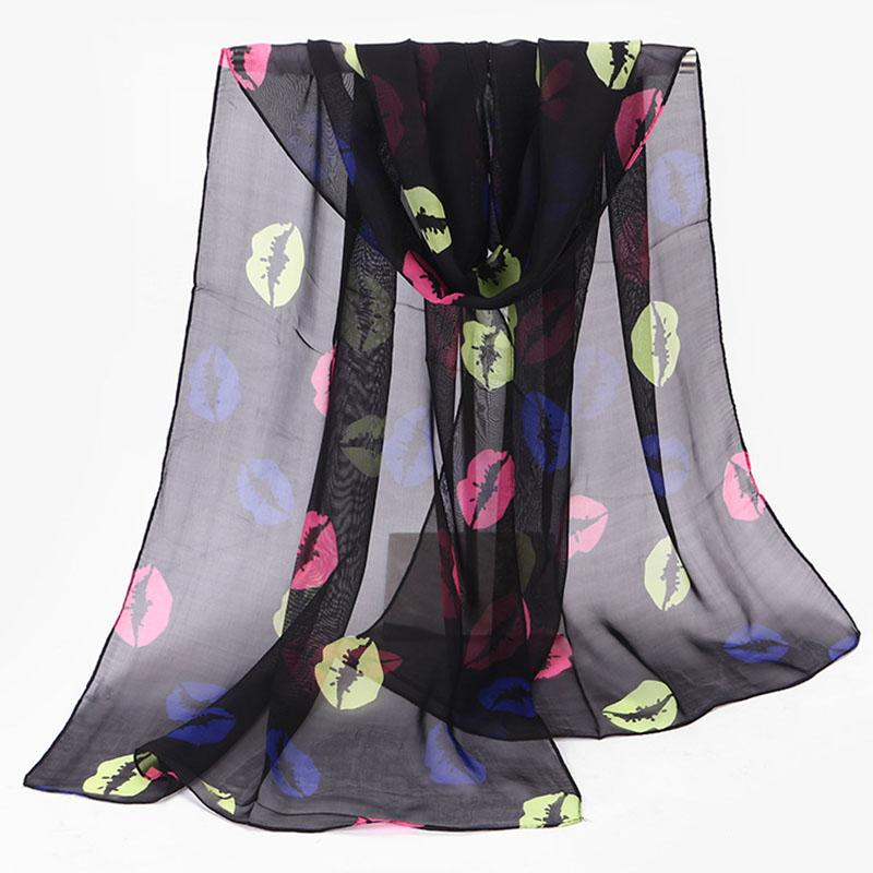 fashion pashmina women scarf 2018 new design floral shawl cape silk chiffon Mouth polyester tippet muffler hot sale Scarves W003