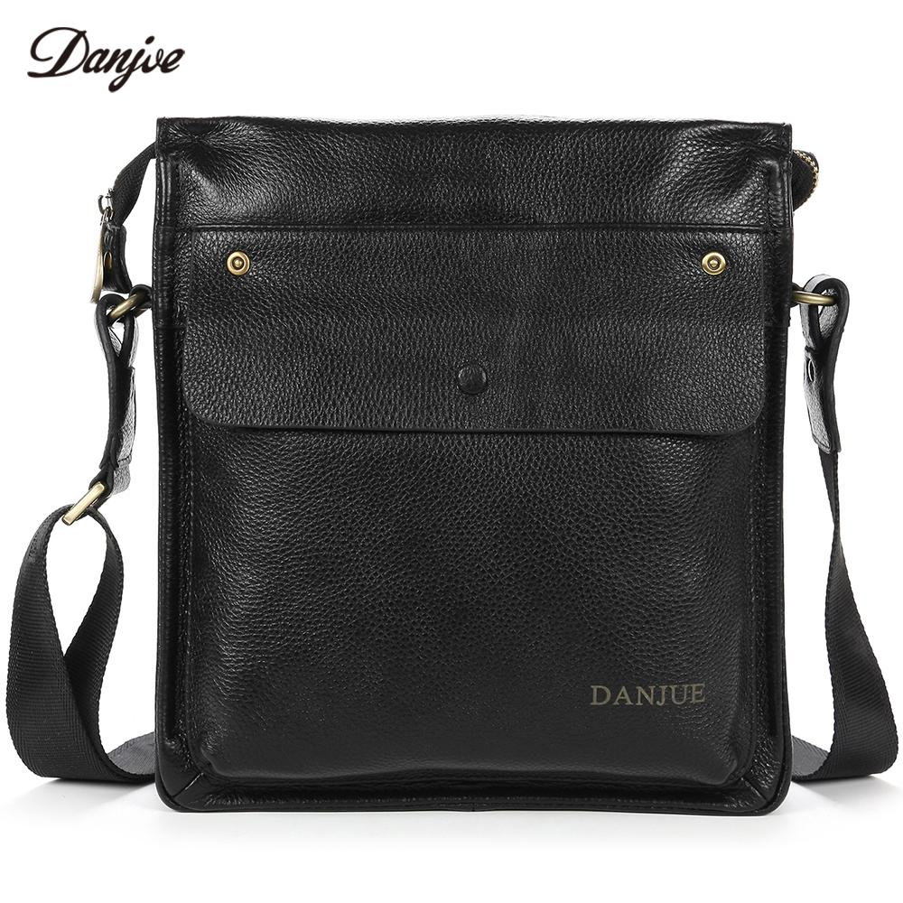 DANJUE Fashion Men Messenger Bag Genuine Leather Male Crossbody Bag For  Business Waterproof Carry Everyday Objects Daily Crossbody Bags Cheap Crossbody  Bags ... d906676f4e