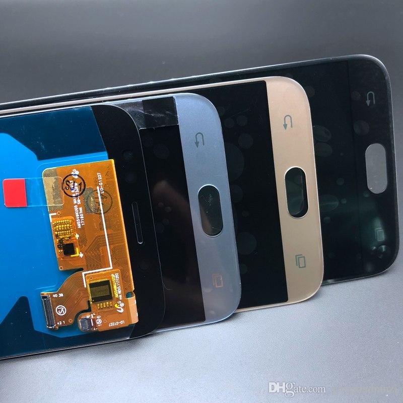 Super Amoled Samsung Galaxy oled J7 Pro 2017 J730 J730F Display LCD con Touch Screen Digitizer Assembly Regolazione della luminosità