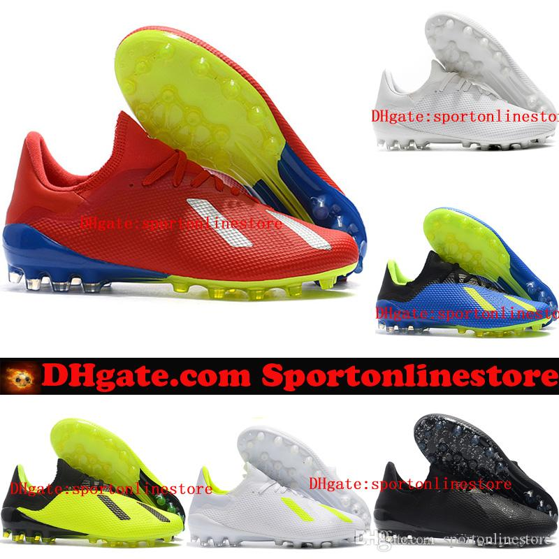 cab70a440b2 2018 Leather Soccer Cleats X 18 AG Soccer Shoes Mens Football Boots X 18.1  Cheap Scarpe Da Calcio Blackout New Arrival Boys Boots Fashion Shoes From  ...