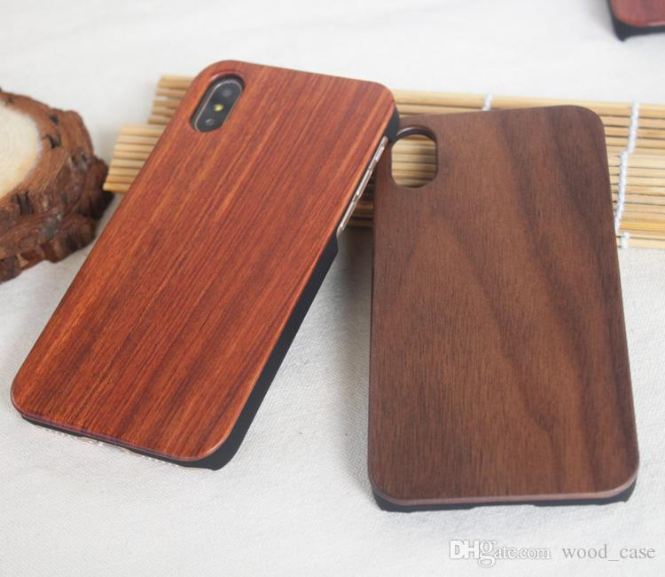 Wholesale Cheap Cell Phone Accessories Wooden Bamboo Case For Iphone 6 6s p 7 8 X Cover Wood Case For samsung Galaxy S8 S7 Edge