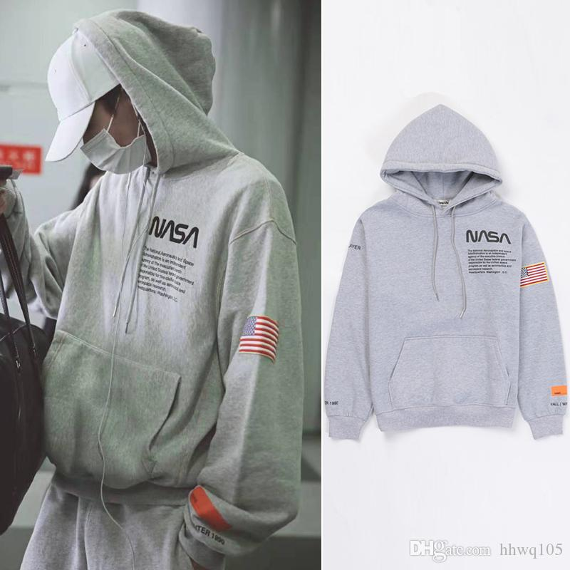 8ababe5a0 2019 Heron Preston NASA Hoodie Fashion Unisex Oversize Pullover Hoodie Men  Women Hip Hop Streetwear Gray Casual Hooded Sweatshirt Coat YJH1124 From  Hhwq105, ...