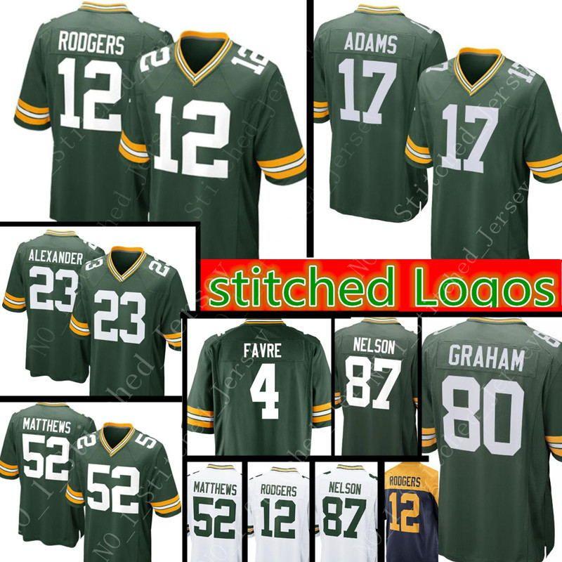 the best attitude 296ea cc38a New Green Bay Packers 17 Davante Adams 23 Jaire Alexander Jersey Mens 12  Aaron Rodgers 37 Josh Jackson 80 Jimmy Graham stitched Jerseys