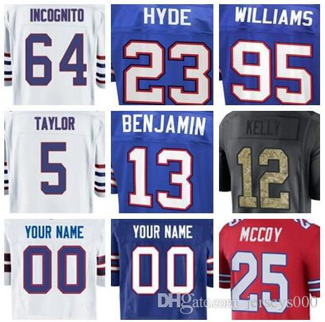 056be0a0ab1 2018 Buffalo LeSean McCoy Jersey Bills Jerry Hughes Vapor ...
