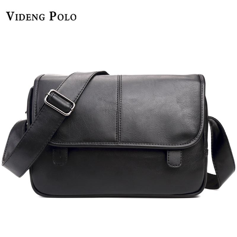 VIDENG POLO 2017 Famous Brand Man Messenger Bag Leather Fashion Male  Shoulder Bags Vintage Business Men S Casual Crossbody Bags Purses Designer  Handbags ... 925224390d31f