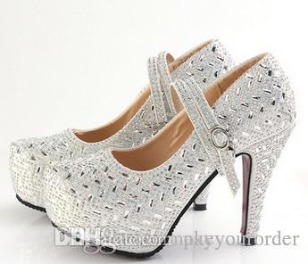 502d1c732b15 Cheap Silver Blue Bridal Shoes Rhinestones Discount Diamond Bridal Sandals