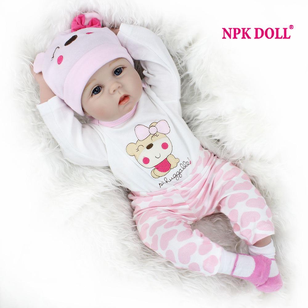 Compre NPKDOLL 22 Pulgadas Bebé Reborn 55 Cm Muñeca Reborn Realista Muñeca  Para Niñas De Silicona Bonecas Niñas Juguetes COLECCIÓN A  104.91 Del  Bradle ... 763778552d6c