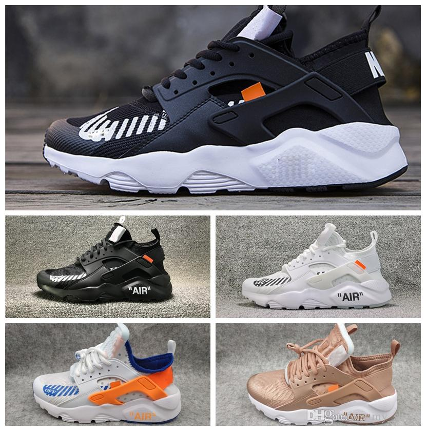 best service 301e8 976ac 2019 2018 New High Quality Huarache Run Ultra 4 4s Running Shoes For Men  Women Black Haraches Air Run Sport Sneakers Mens Trainer Shoes From  My shoes, ...