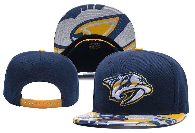 2018 New Predators Hockey Snapback Hats Embroidered Team Logo Sports ... 9b6e0ed0c0c