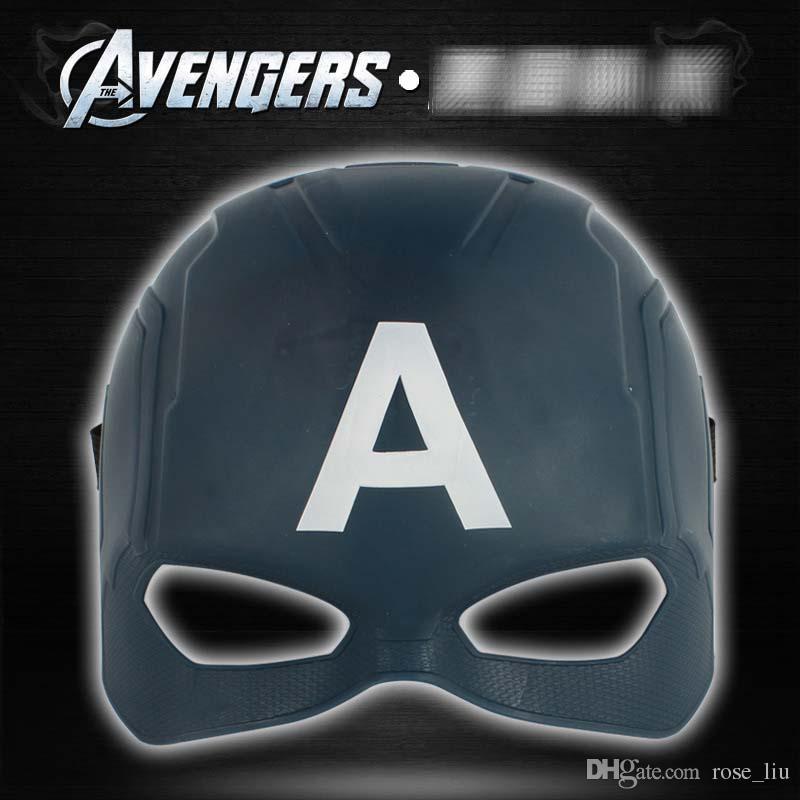 5 Estilo Avengers máscara LED Iron Man Capitán América spiderman Pantera Negra cosplay Superhero Fiesta de Halloween máscaras B