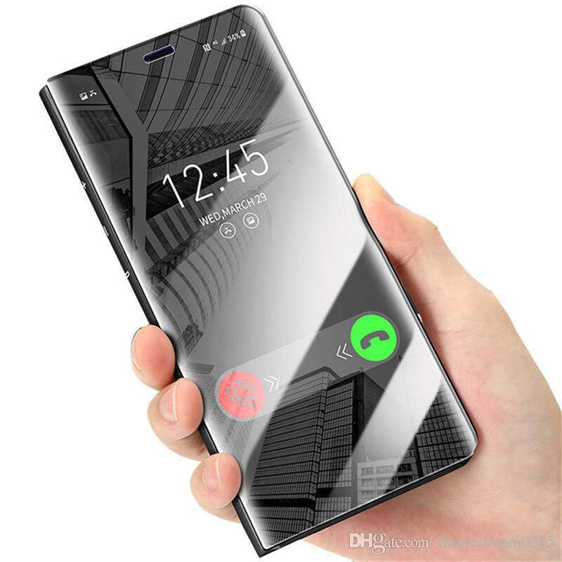 the latest ead23 240bc Phone Bags Cases For Samsung Galaxy S8 Plus S9 A3 A7 A5 2017 A8 2018 Note 8  5 S6 S7 Edge Case Flip Mirror Smart Cover