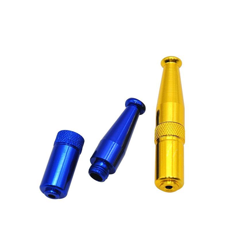 Più nuovo tubo di metallo Torpedo forma in lega di zinco a mano di alta qualità Mini tubo di fumo tubo portatile Design unico facile da trasportare pulito vendita calda