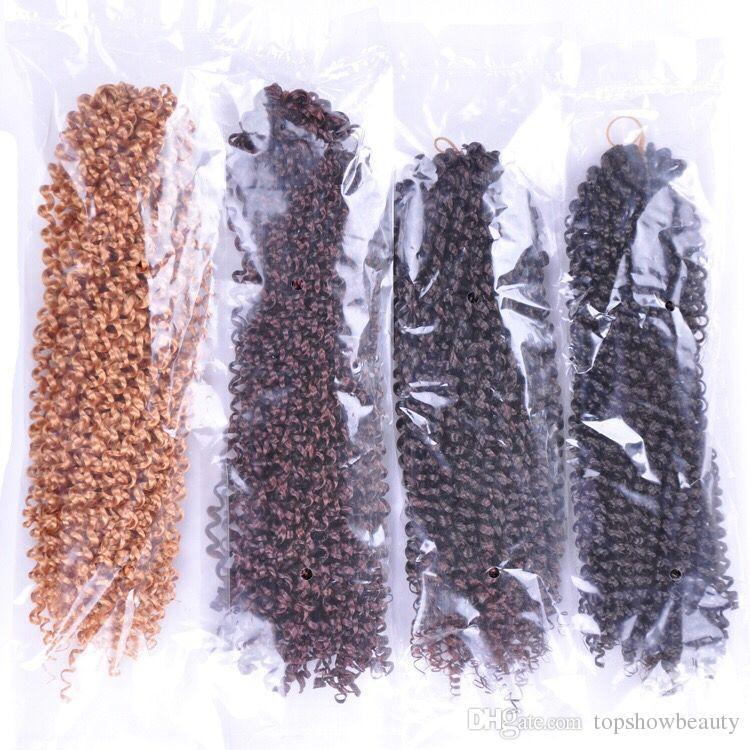 Pre twisted curlly kinky dreadlocks 18inch twist braid jerry curl hair extension braid x-pression for black women kanekalon fiber hair