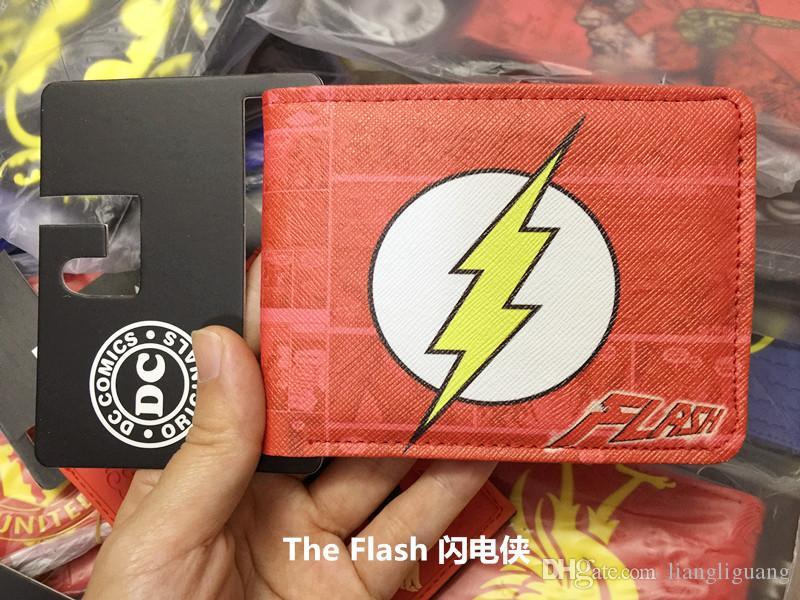 ae363f5d32 cartoon anime the flash wallets men DC Comics Heroes vs Villains Bi-Fold  Purse wallet card holder with coin purse wholesale