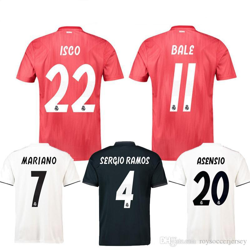 Top Champion League Jerseys MARIANO Real Madrid 2019 BALE ISCO ... 30a0dfdb84