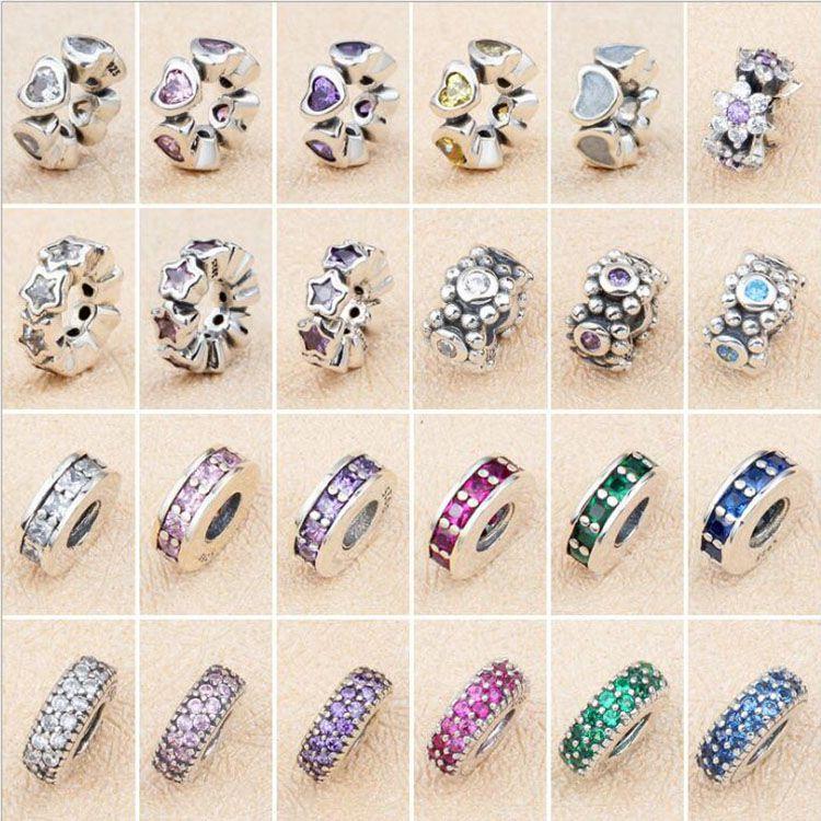 5aec4dd2907cec Acquista 100% Vero Argento Sterling 925 Grande Foro Fascette Pandora ...