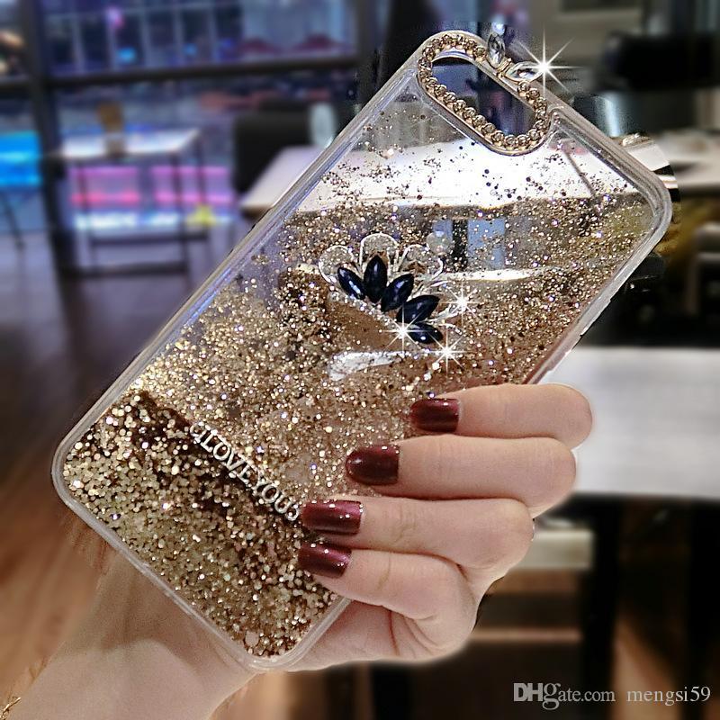 detailed look 5822d 39bc0 For OPPO A59 A57 A79 A73 F5 F7 A3 A5 Luxury Fashion Cute diamond queen  crown rhinestone cat liquid quicksand phone case cover
