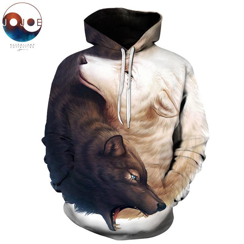 Wolf 3d Hoodies Marke Männer Sweatshirts Drop Schiff Qualität Plus Größe 6xl Pullover Neuheit Streetwear Casual Mantel StraßEnpreis Herrenbekleidung & Zubehör