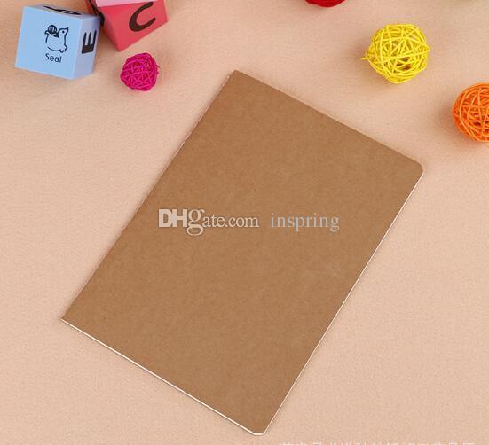 cowhide paper notebook blank notepad book vintage soft copybook daily memos Kraft cover journal notebooks