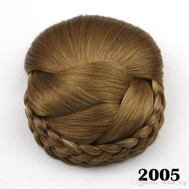 Z&F Top Quality Woman Chignon Hair Bun Clip Synthetic Hair Pieces Bun Donut Roller Hair Piece